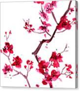 Plum Blossom Painting Canvas Print