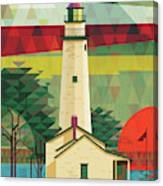 Point Aux Barques-michigan  Canvas Print