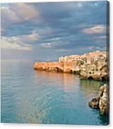 Polignano A Mare On The Adriatic Sea Canvas Print