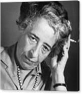 Political Theorist Hannah Arendt Canvas Print