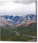 Polychrome Pass In Denali National Park Canvas Print