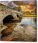 Pont Pen-y-llyn Bridge Snowdonia Canvas Print