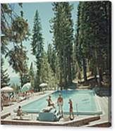 Pool At Lake Tahoe Canvas Print