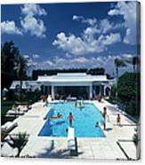 Pool In Palm Beach Canvas Print