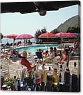 Poolside Bar Canvas Print