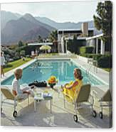 Poolside Gossip Canvas Print
