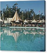 Poolside Reflections Canvas Print