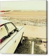 Pop Art Beach Carpark  Canvas Print