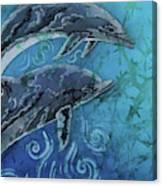 Porpoise Pair - Close Up Canvas Print