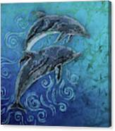 Porpoise Pair Canvas Print
