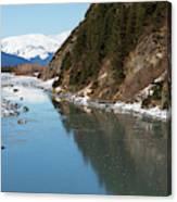 Portage Creek Portage Glacier Highway Alaska Canvas Print