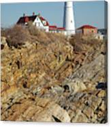 Portland Head Light - Cape Elizabeth Maine Canvas Print
