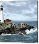 Portland Head Light House Canvas Print