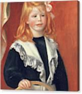 Portrait De Jean Renoir Canvas Print