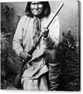 Portrait Of Apache Chief Geronimo Canvas Print