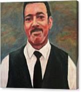 Portrait Of Artist Carl Butler Canvas Print