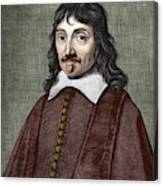 Portrait Of Descartes Canvas Print