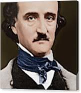 Portrait Of Edgar Allan Poe, Circa 1849 Canvas Print