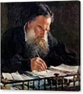 Portrait Of Leo Tolstoy Canvas Print