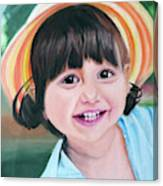 Portrait Of Little Girl. Canvas Print