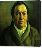Portrait Of Nikolay O Ge Artist Father Canvas Print