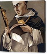 Portrait Of St Thomas Aquinas 1225-1274, Italian Theologian Canvas Print