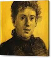Portrait Of Tatyana Tolstaya Leo Tolstoy Daughter Canvas Print