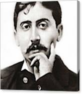 Portrait Of The French Author Marcel Proust Canvas Print