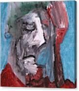 Portrait On Blue Canvas Print