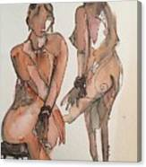 Posing Canvas Print