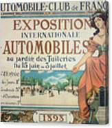 Poster Advertising The Exposition Internationale Automobiles At The Tuileries Gardens 1898 Canvas Print