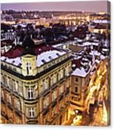 Prague Lights Canvas Print