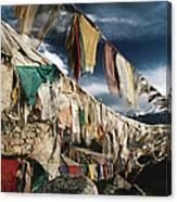 Prayer Flags Above Leh, Ladakh, Leh Canvas Print