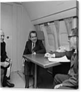 Pres. Nixon Aboard Air Force One Canvas Print