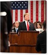 President Donald J. Trump Delivers His State Of The Union Address At The U.s. Capitol 2 Canvas Print