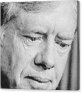 President Jimmy Carter Frowning Canvas Print