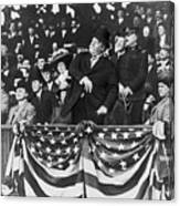 President Taft Throwing The First Pitch Canvas Print