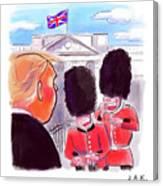 Presidential Visit To The Uk Canvas Print