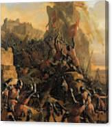 Prise De L'ile De Rhodes Par Les Chevaliers De L'ordre Des Hospitaliers De Saint-jean De Jerusalem Canvas Print