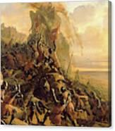 Prise De Rhodes Le 1310 Canvas Print