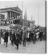 Processiondemonstration On May-day Canvas Print