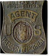 Prohibition Agent Badge Canvas Print