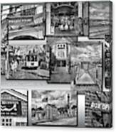 Provincetown Cape Cod Massachusetts Collage Pa Bw Canvas Print