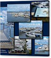 Provincetown Marina Cape Cod Massachusetts Collage Canvas Print