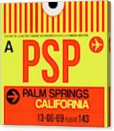Psp Palm Springs Luggage Tag I Canvas Print