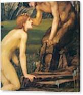 Psyche And Pan 1874 Canvas Print