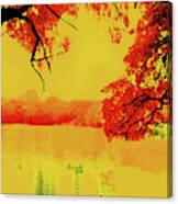 Psychedelic Lake Canvas Print