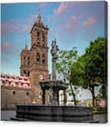 Puebla Zocalo And Cathedral Canvas Print