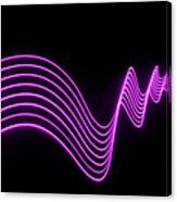 Purple Abstract Lights Trails And Canvas Print