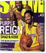 Purple Reign - Shaq & Kobe: The Bling Dynasty SLAM Cover Canvas Print